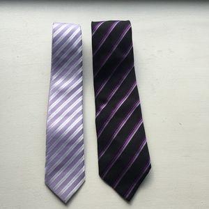 Set of 2 Purple Ties - Battistoni Purple Club